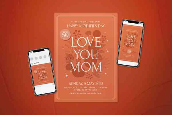 $ Mother's Day Flyer Set