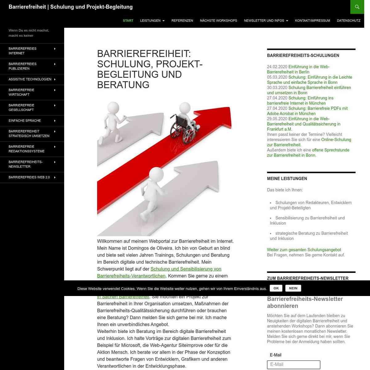 Barrierefreiheit - Schulung, Beratung, Begleitung - Barrierefreiheit | Schulung und Projekt-Begleit…