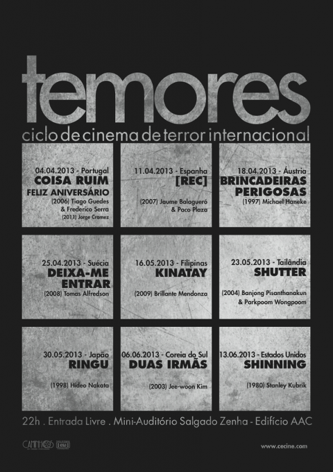 Entrada Livre – Ciclo de Cinema de Terror em Coimbra | Low Cost Portugal