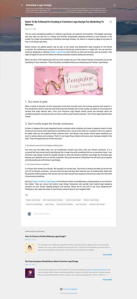 Rules To Be Followed In Creating A Feminine Logo Design For Marketing To Women
