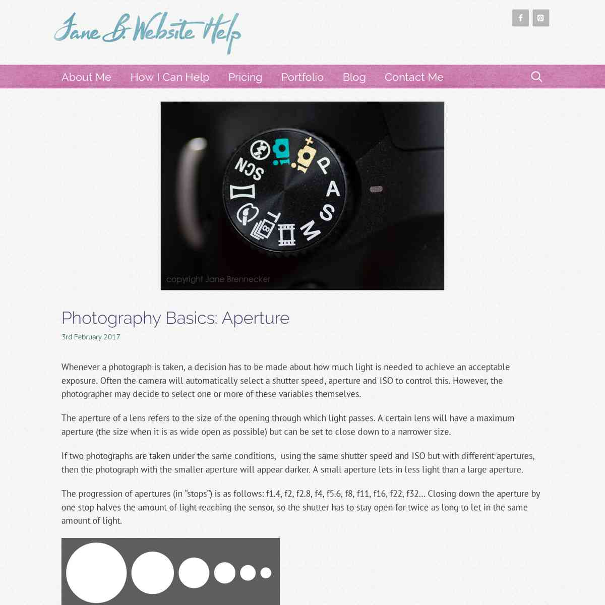 janebwebsitehelp.co.uk/photography-basics-aperture/