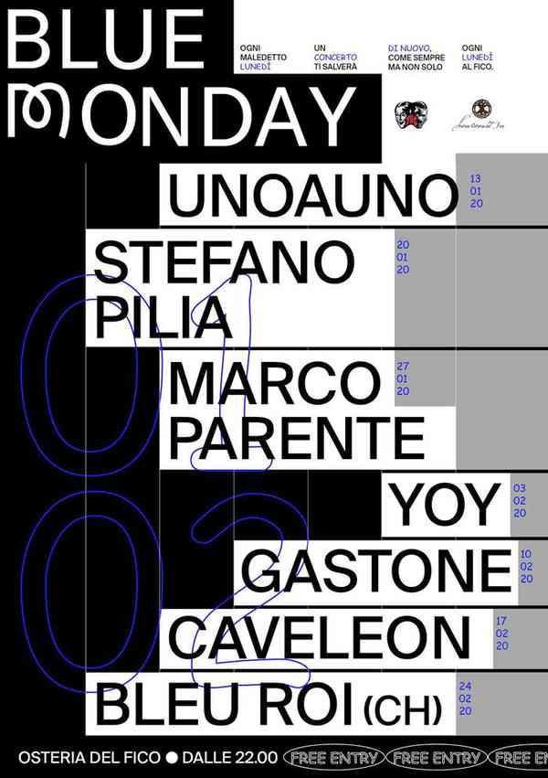 Blue Monday poster series