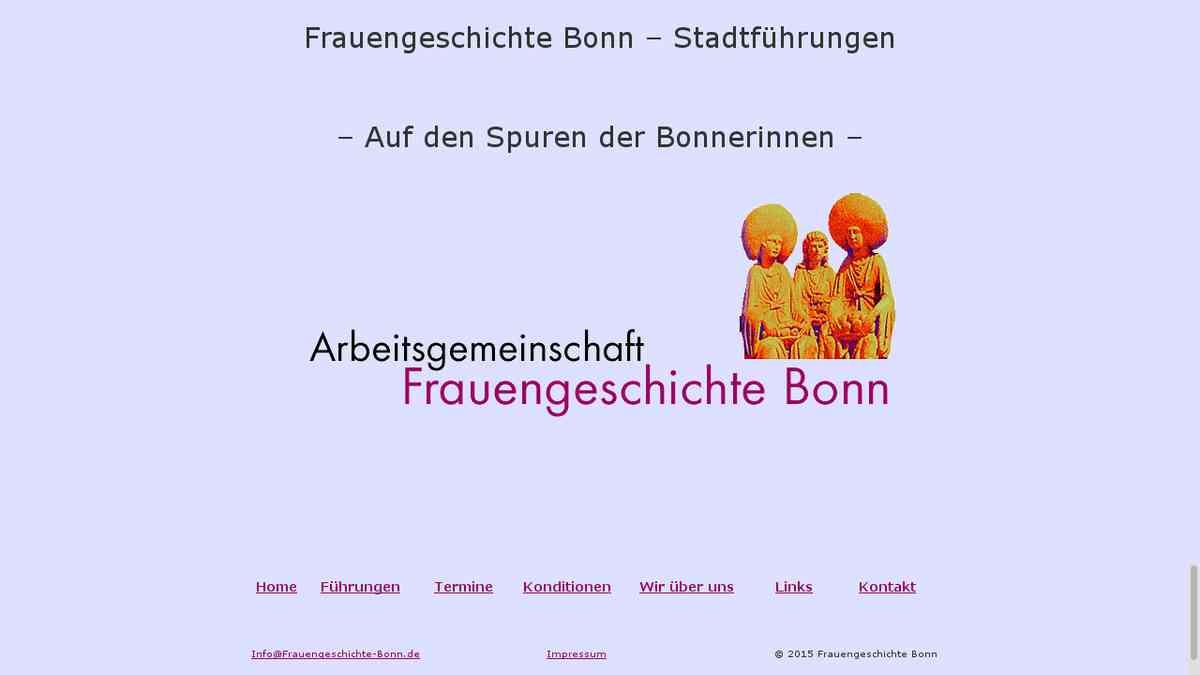 Frauengeschichte Bonn – Auf den Spuren der Bonnerinnen