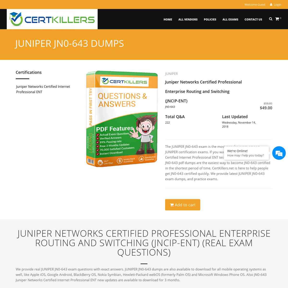 Download Updated CertKillers.net JN0-643 test PDF | exam prep | dump