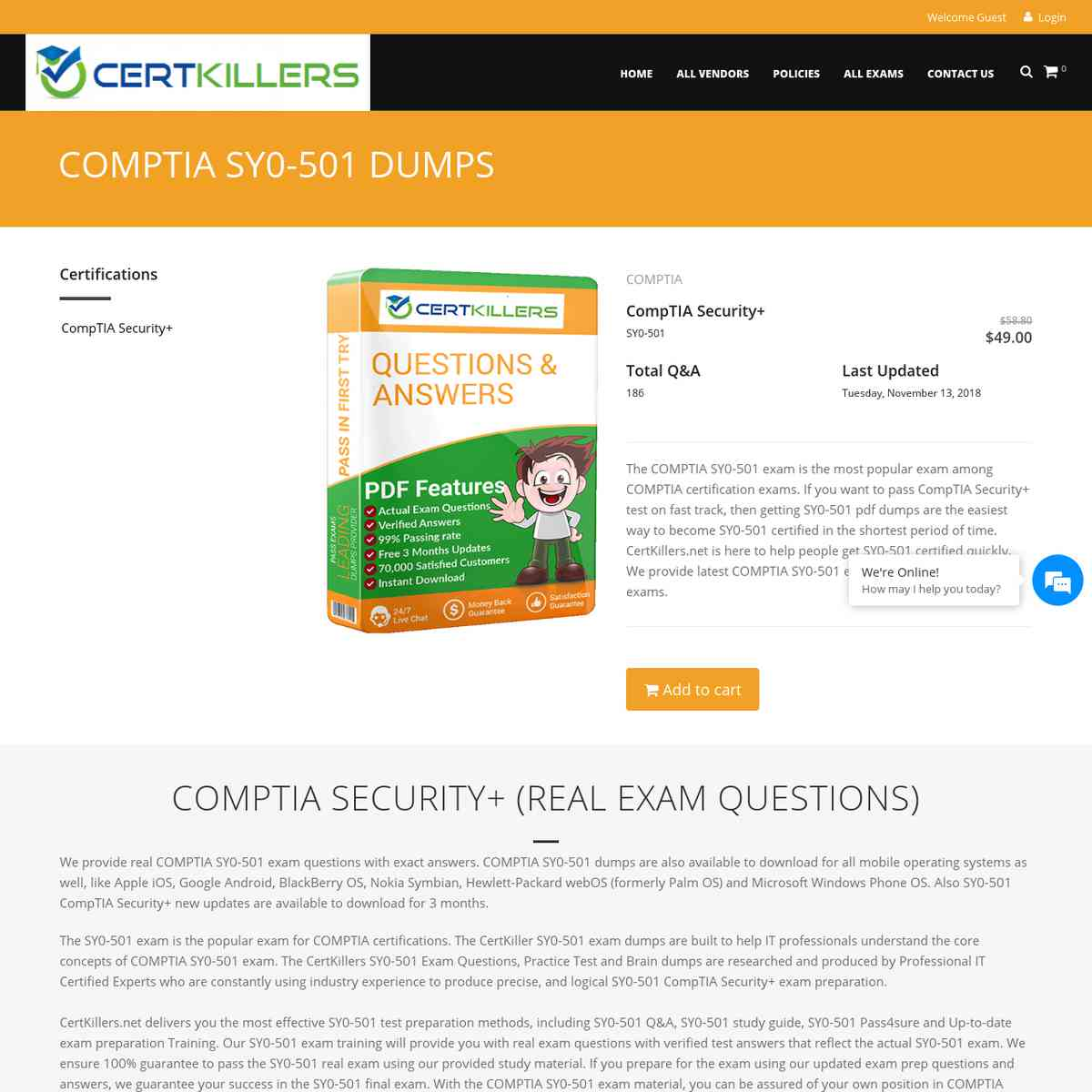 Lastest CertKillers.net Cheat Sheet of SY0-501 Test Prep | boot camp | pdf download