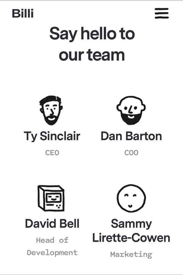 Billi.app | Team, mobile