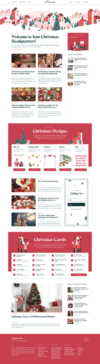 Christmas HQ – Holiday Food and Drinks, Traditions, Designs and More