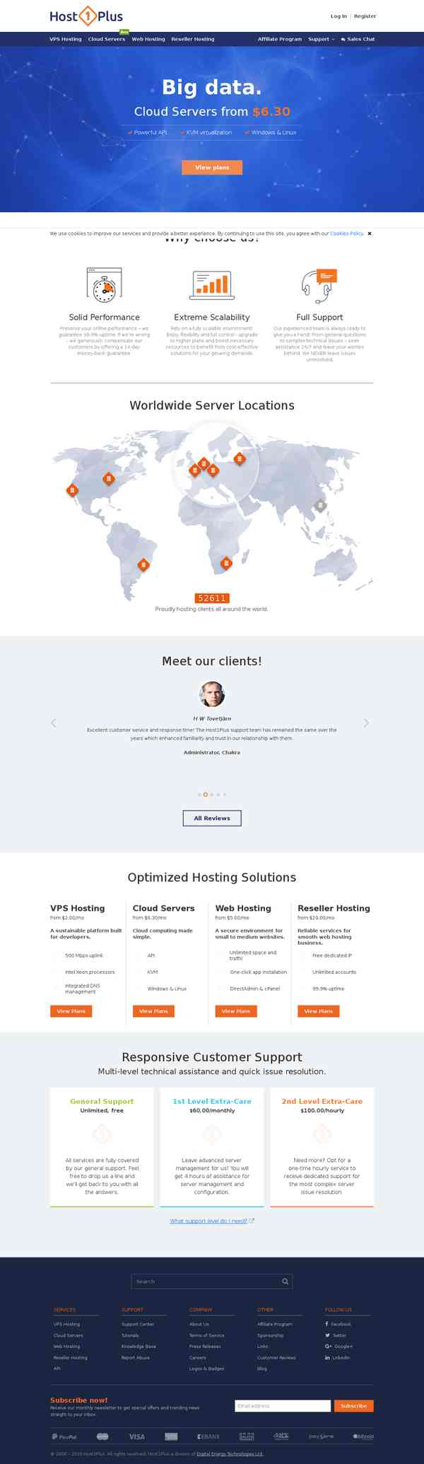 Host1Plus: High Quality Hosting Services