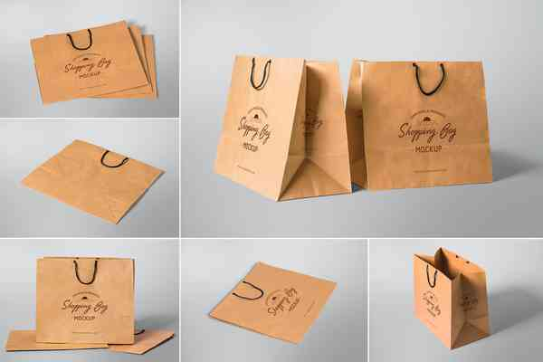 $ Shopping Bag Mockups