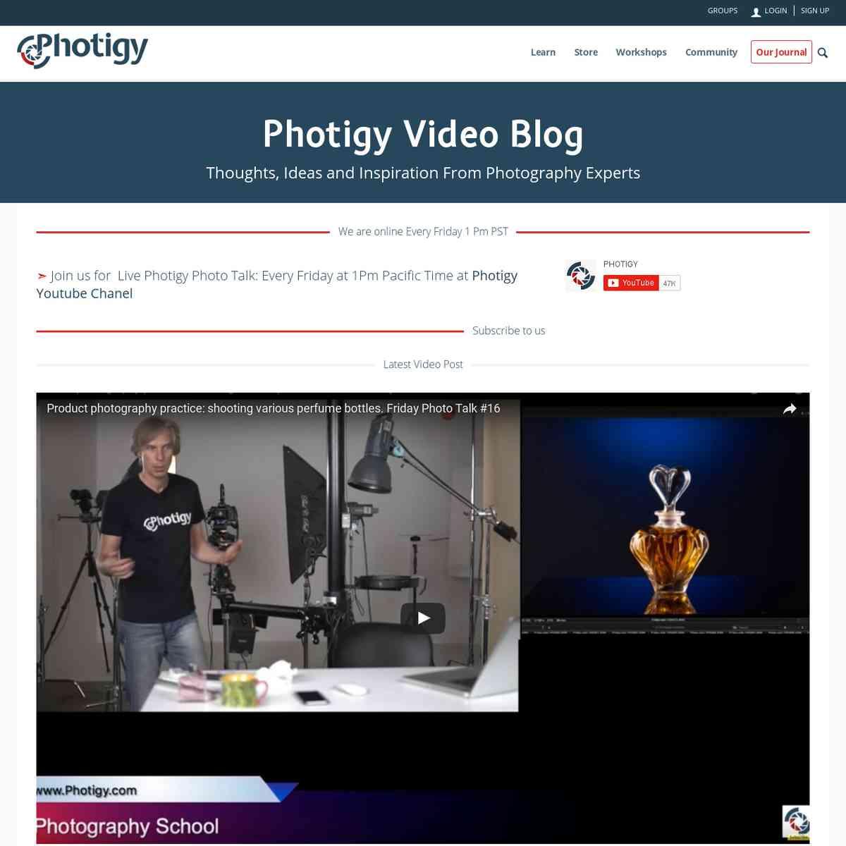 Photography Expert Videoblog