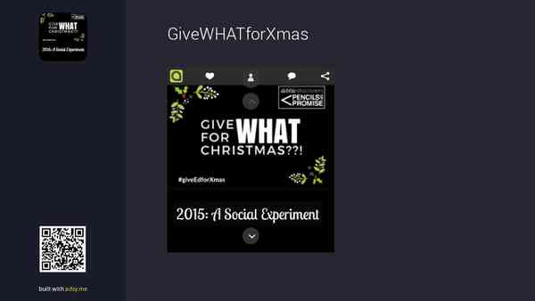 Give What for Xmas