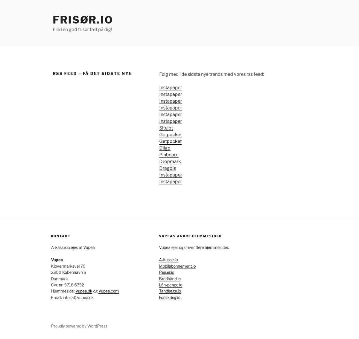 Rss feed - få det sidste nye - Frisør.io