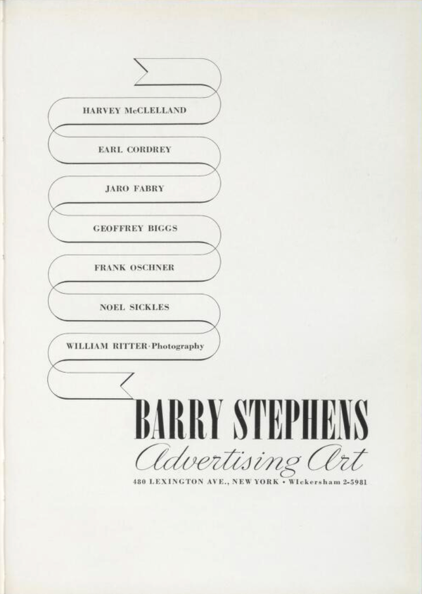 Barry Stephens Advertising Art, 1937