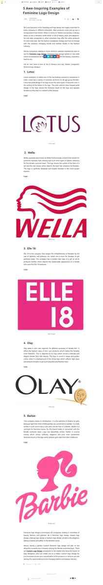 5 Awe-Inspiring Examples of Feminine Logo Design