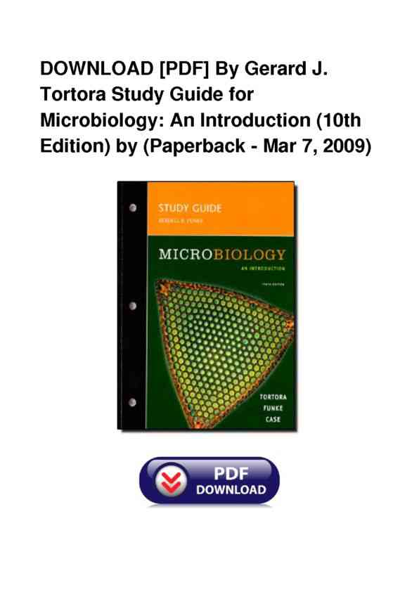 Full Book By Gerard J Tortora Study Guide For Microbiology An