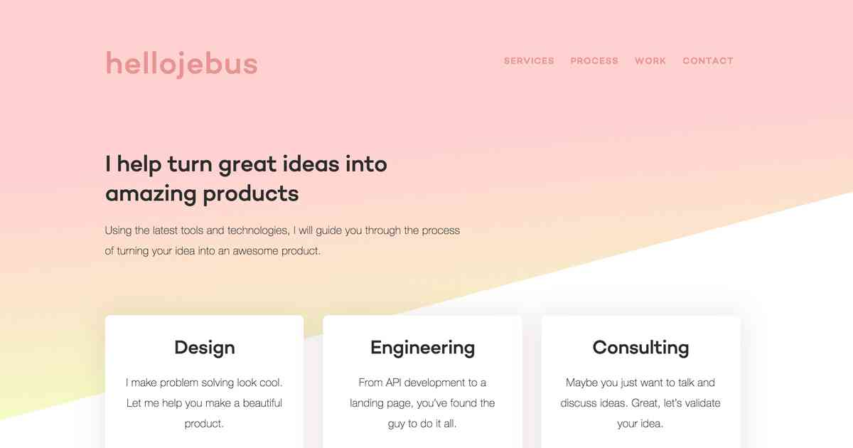 hellojeb.us | Los Angeles based designer and developer | Jesus Lizama