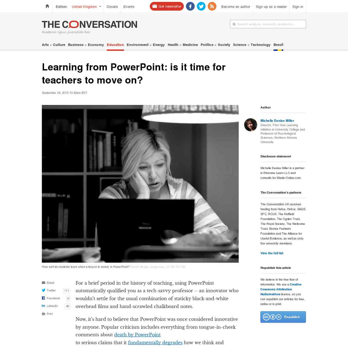 Learning from Powerpoint