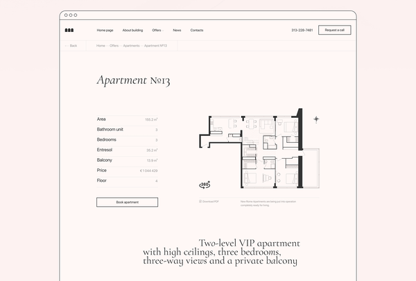 New Rome Apartments   Product page