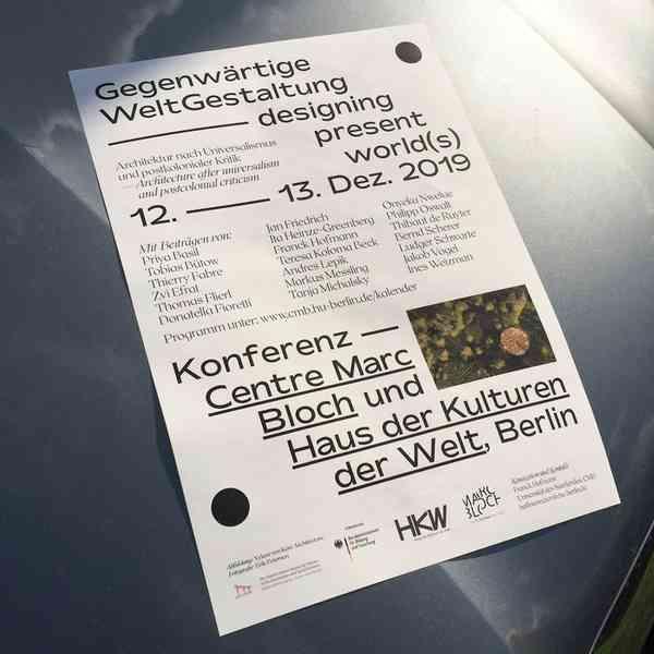 Gegenwärtige WeltGestaltung | Poster