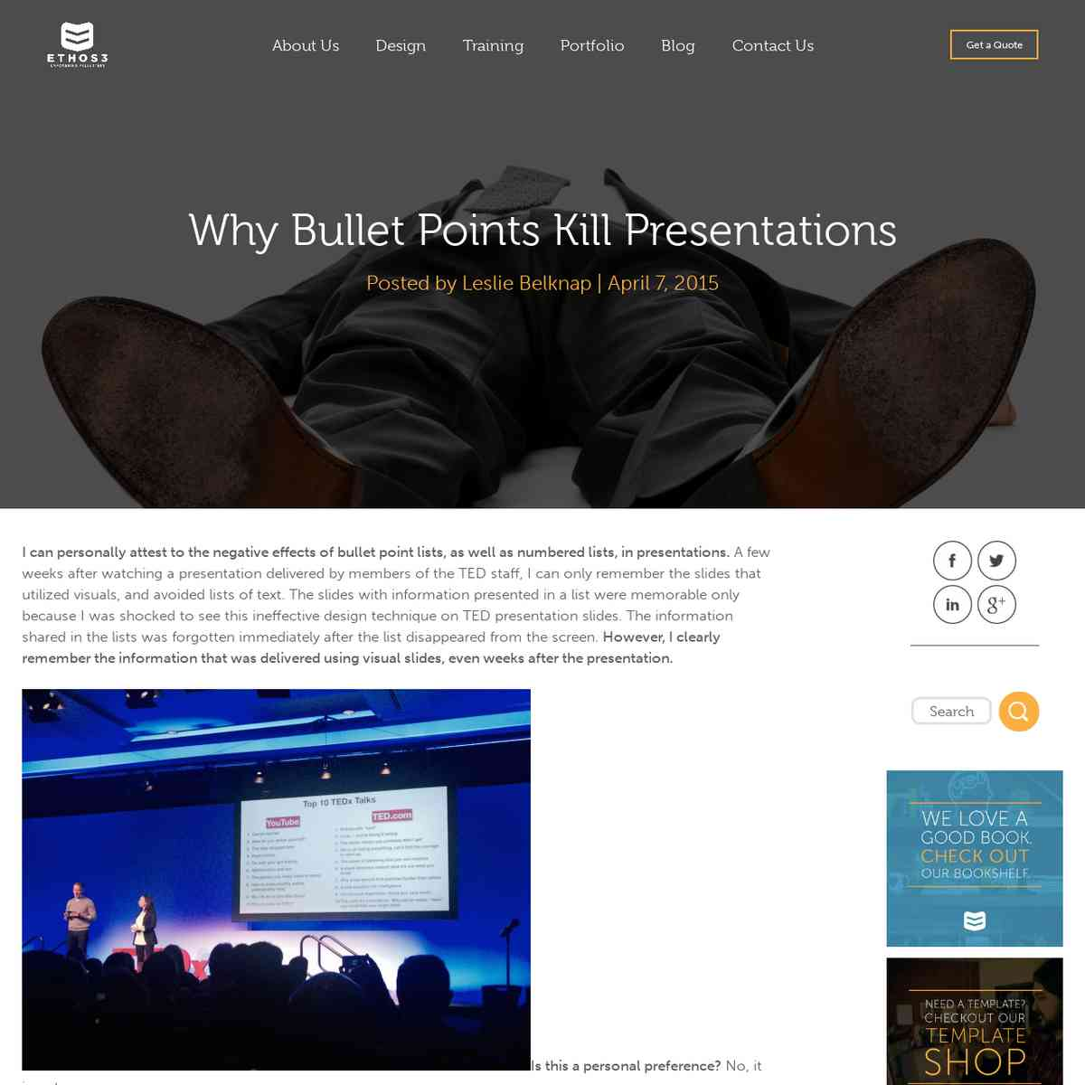 Why bullet points kill presentations