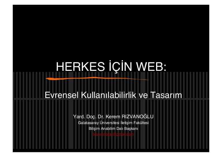 Kerem Rizvanoğlu - Herkes Icin Web