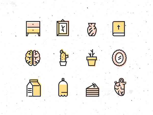 Useless icon set by Joanna Ławniczak
