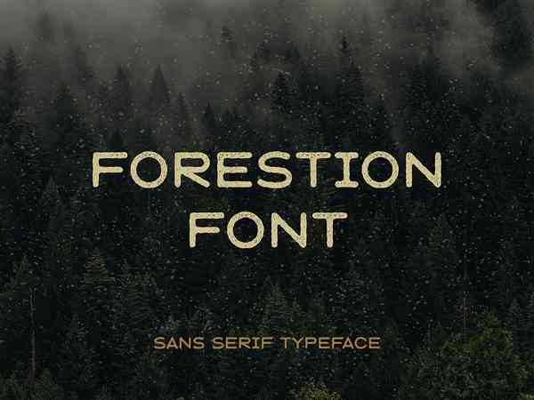 Forestion Display Font