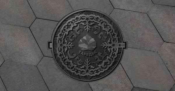 Zaryadye manhole covers