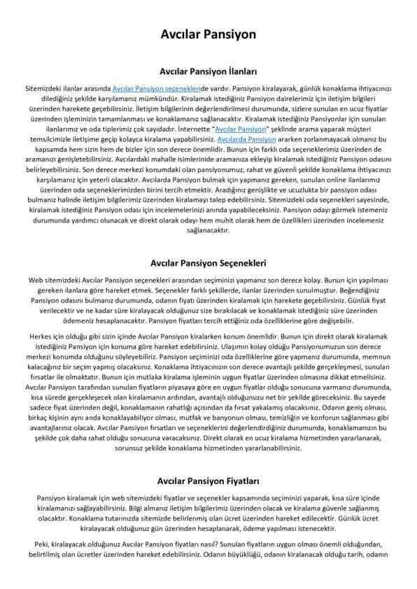Avcilar Pansiyon | Hit Suites Avcılar