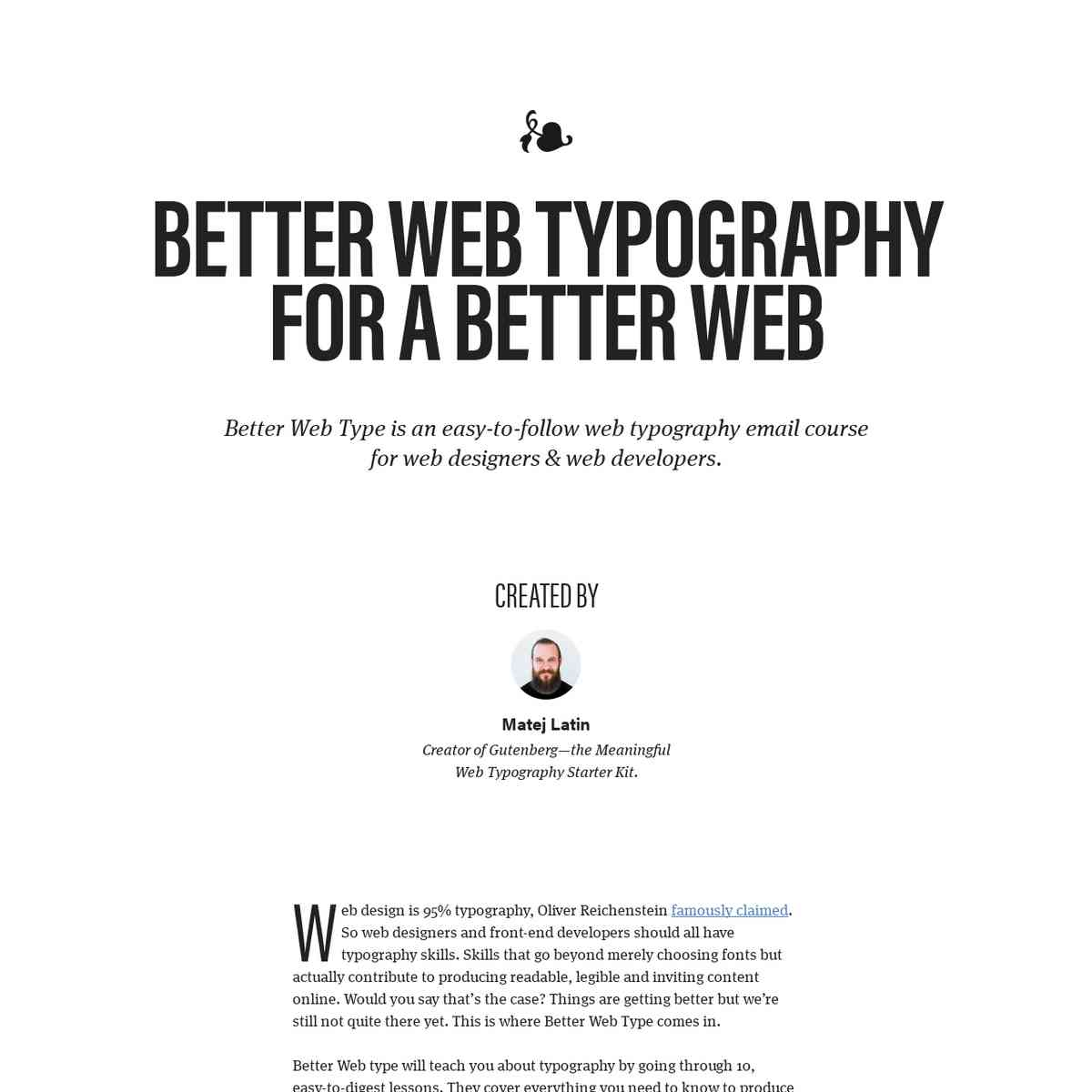Better Web Type   Web typography for web designers and web developers.