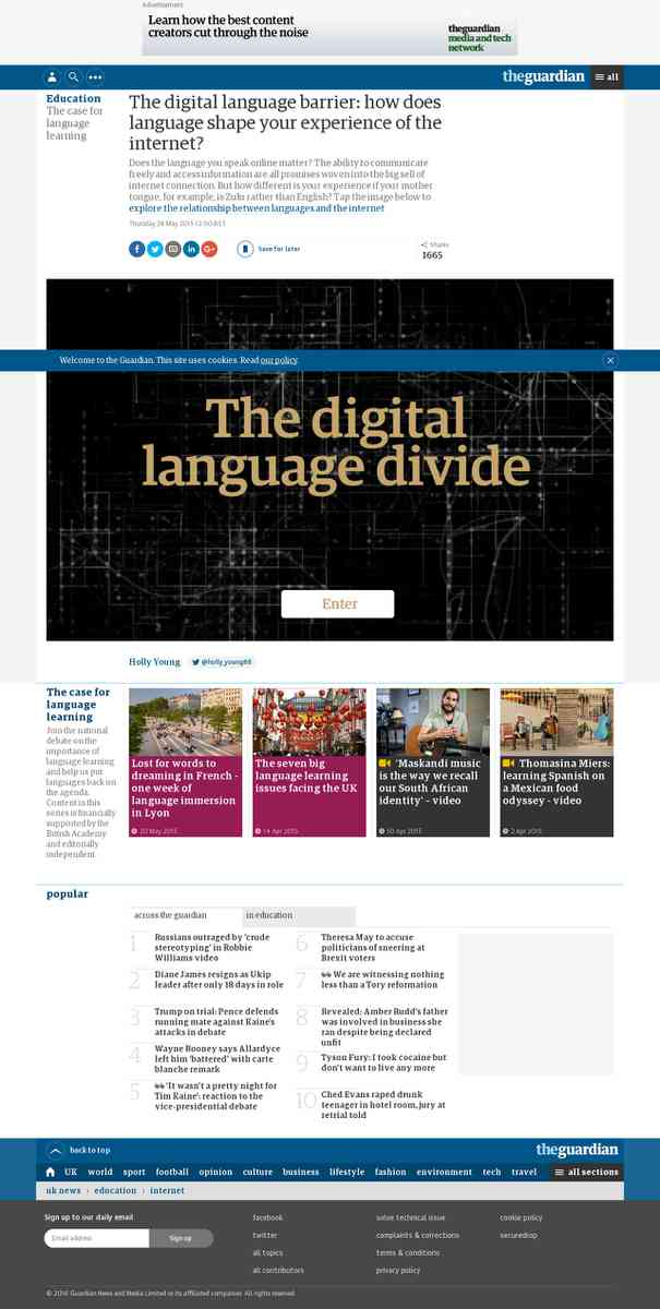 How does language shape your experience of the internet?