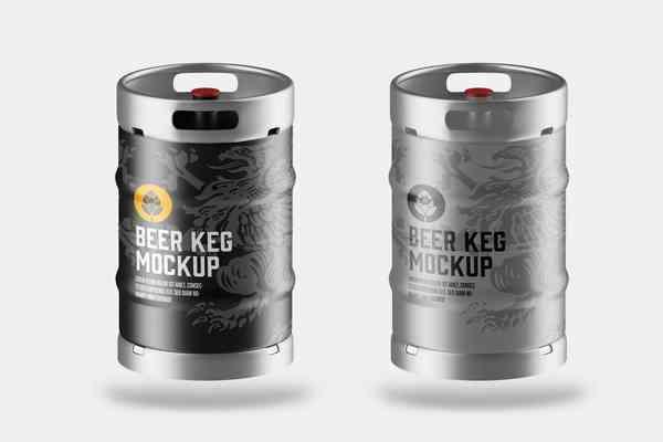 $ Beer Keg Mockup