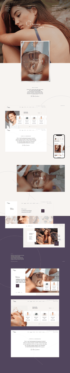 Chronocosmetics / Skincares evolving during the day on Behance