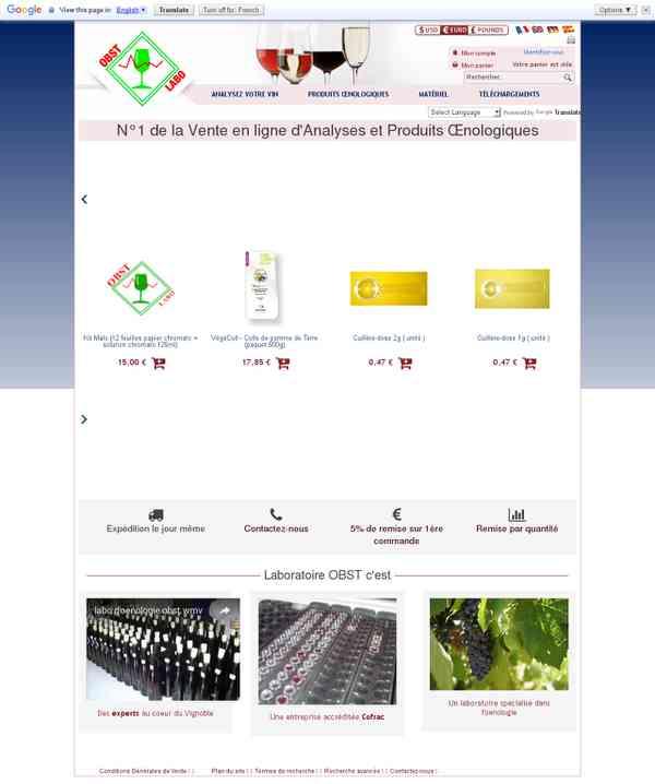 Produits œnologiques et analyses du vin