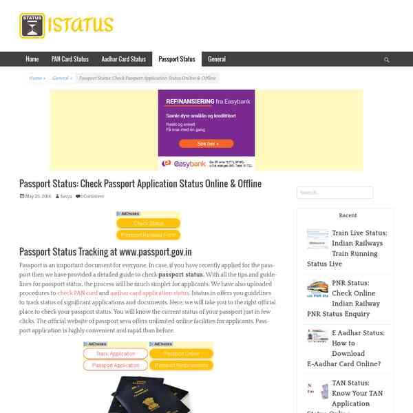 How to check passport status? - EntertainmetsCollection name