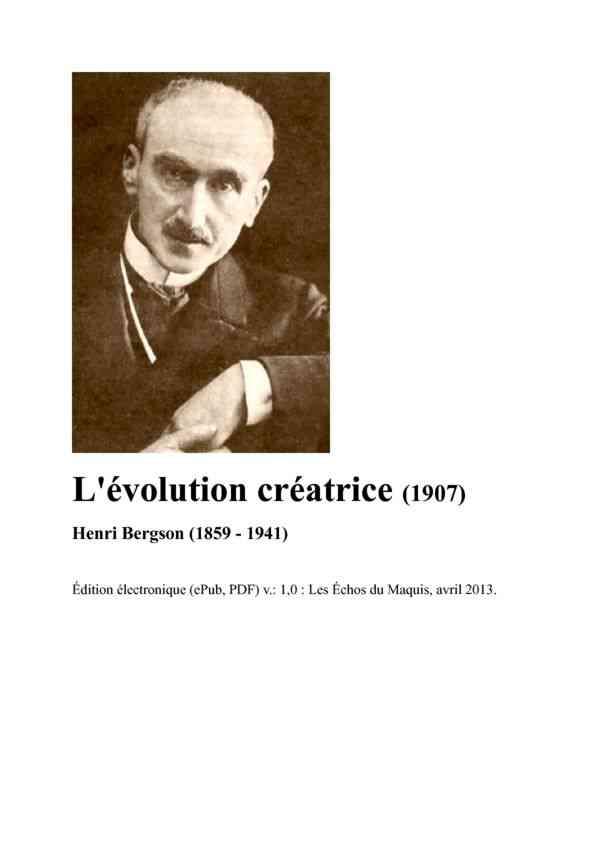 Lévolution créatrice
