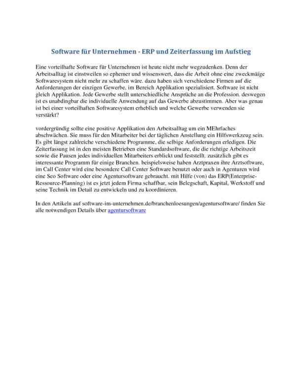 Software für Unternehmen - ERP und Zeiterfassung im Aufstieg