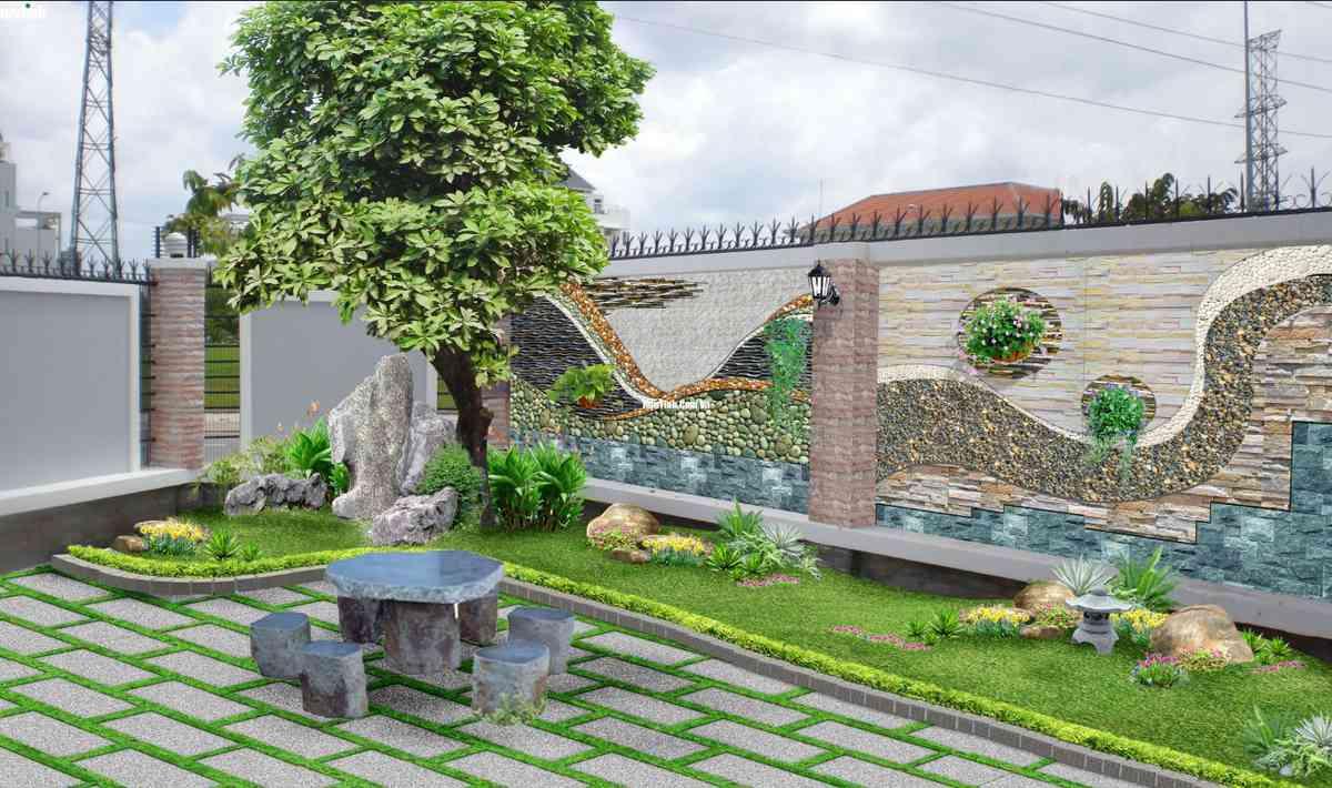 Tiểu cảnh sân vườn theo phong thủy thú chơi thể hiển đẳng cấp