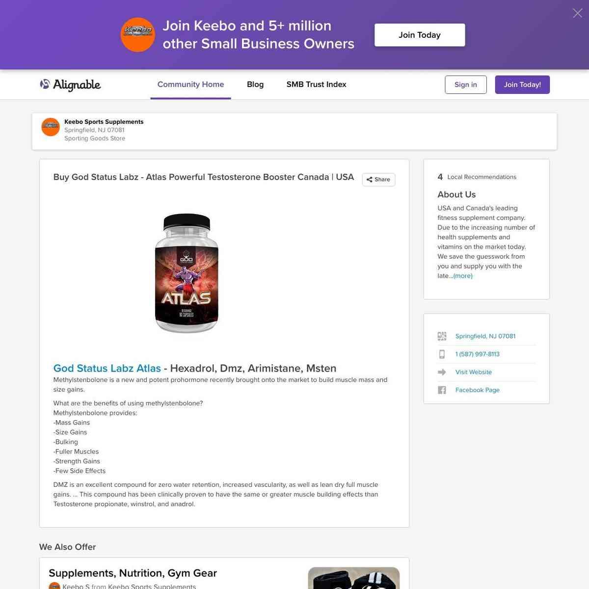 Buy God Status Labz - Atlas Powerful Testosterone Booster Canada | USA