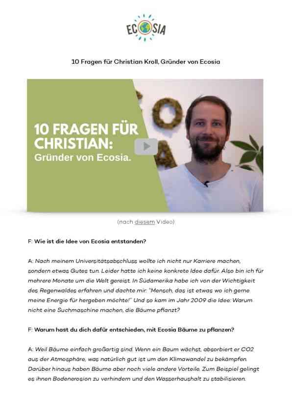 10 Fragen und Antworten von Christian Kroll