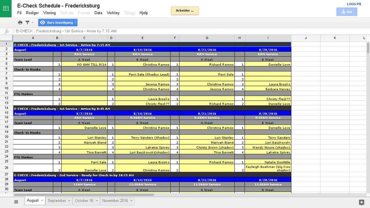 E-Check Schedule