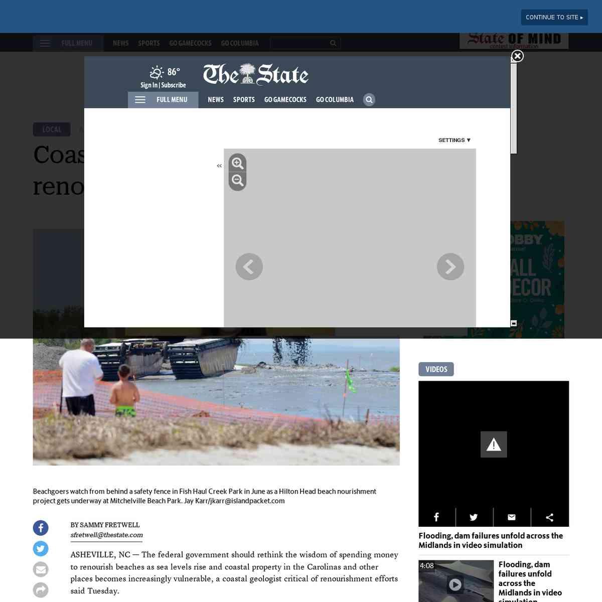 Coastal geologist criticizes beach renourishment efforts, including in SC