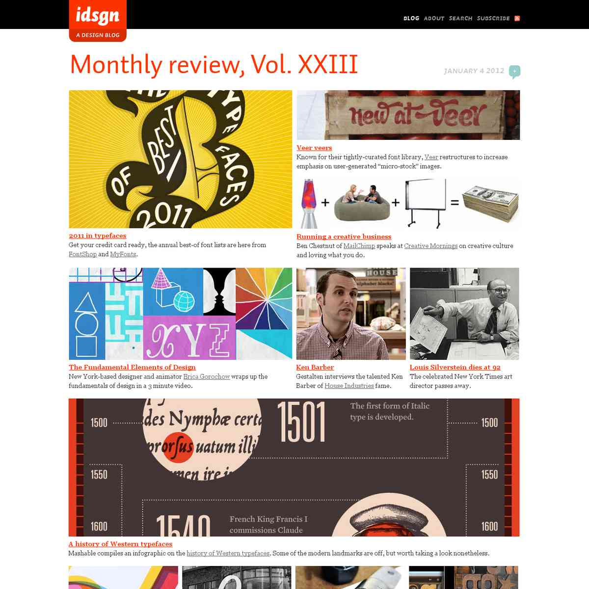 Monthly review, Vol. XXIII: idsgn (a design blog)