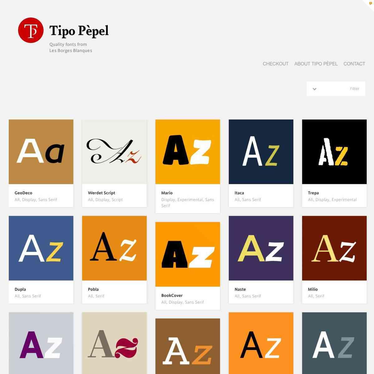 Portfolio | Tipo Pèpel | La foneria tipogràfica de can Antaviana