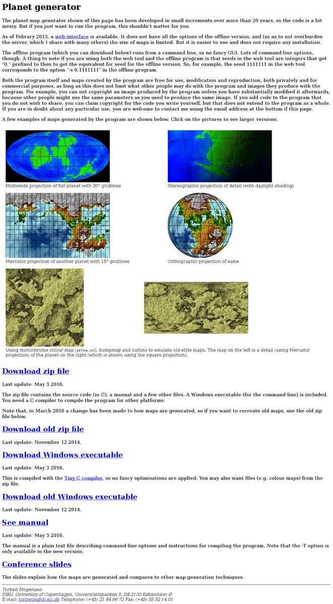 Free Mapper - Planet generator