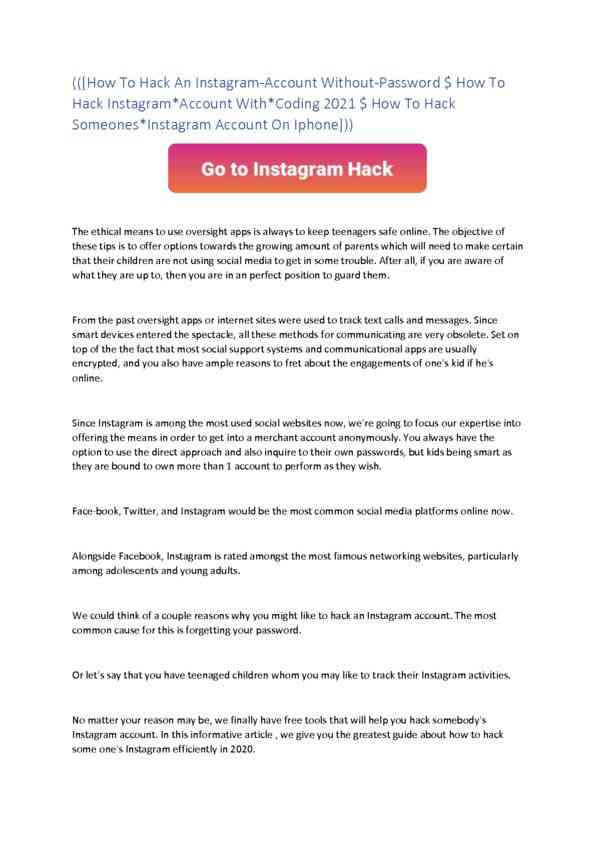 How To Hack An Instagram Account Brute Force 2021
