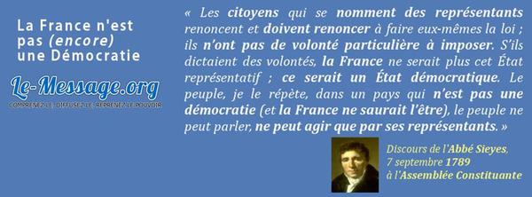 La France n'est pas (encore) une Démocratie.