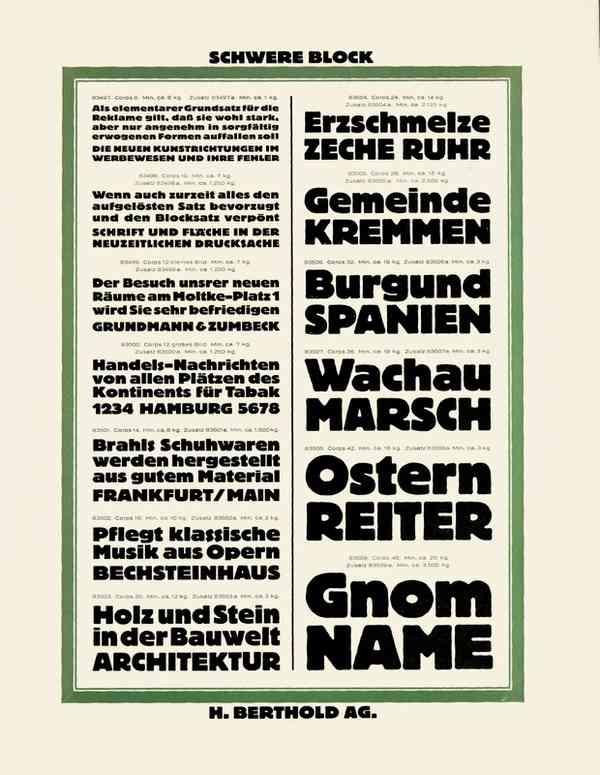 Schwere Block, Berthold specimen