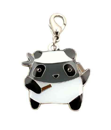 Ninja Panda Zipper Pull from crywolf (from Tina)