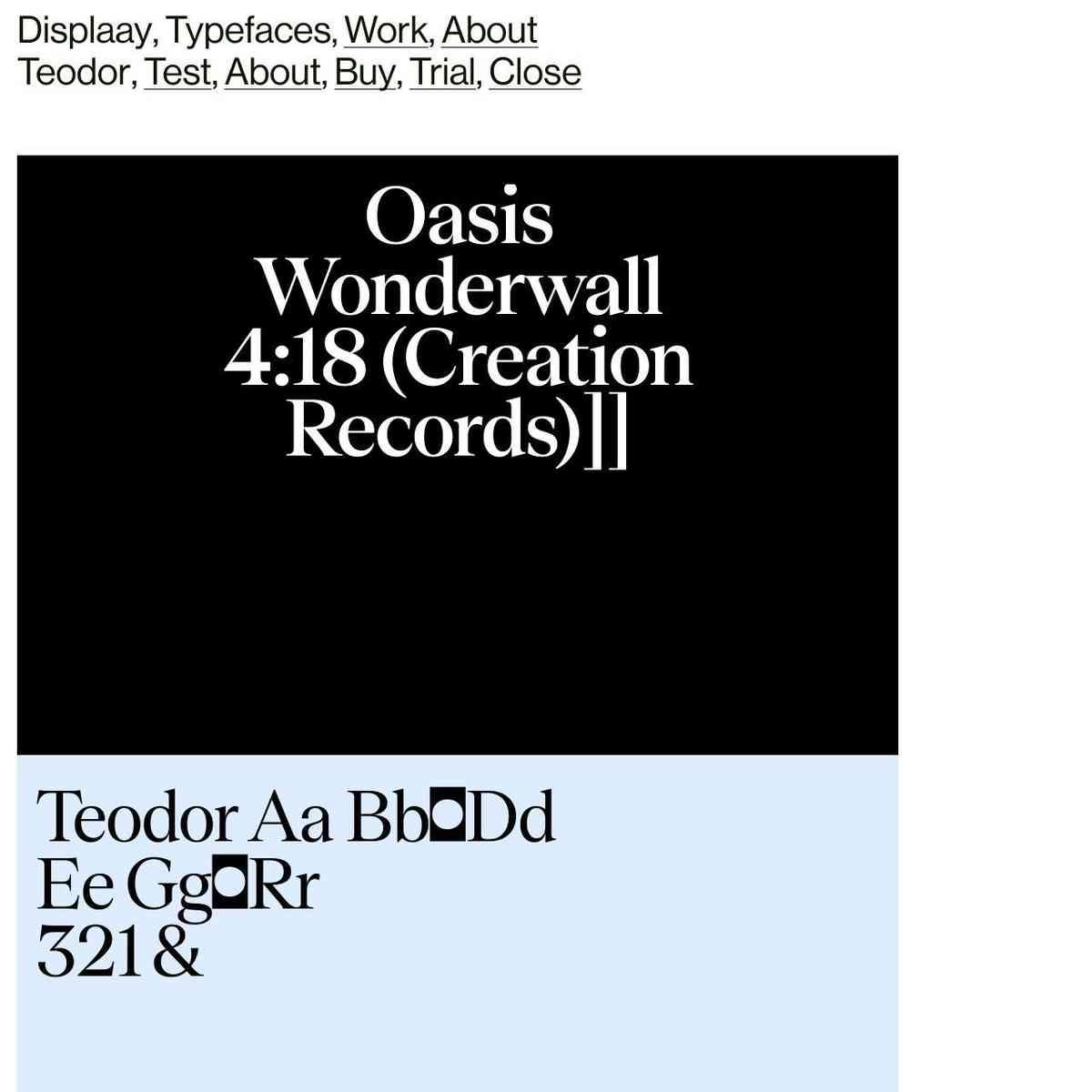 Teodor - Displaay Type Foundry